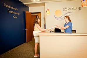 front desk at board certified sleep specialist Somnique